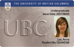 Front of Library Card